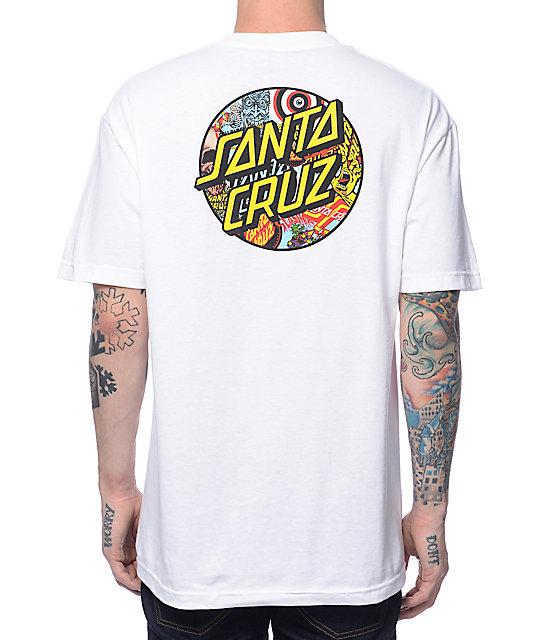 white santa cruz t shirt