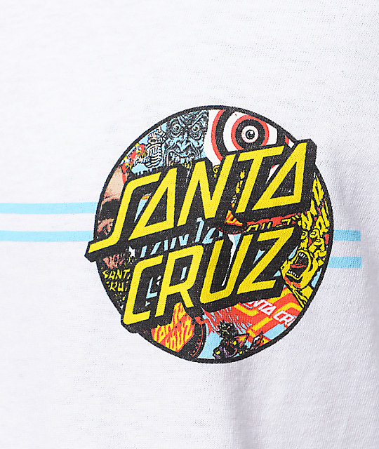Santa Cruz Collage Dot camiseta blanca
