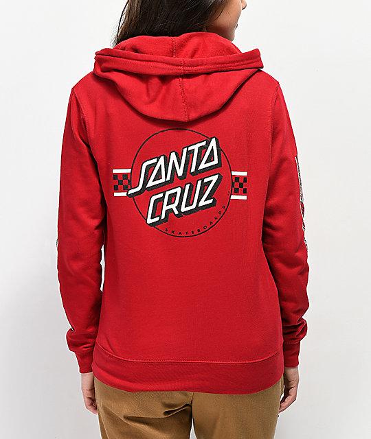 d1848b6d73 Santa Cruz Contest Dot Brick Red Hoodie | Zumiez