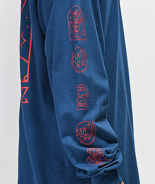 Santa Cruz Gateway Hand Harbor Blue Long Sleeve T-Shirt