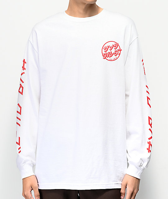 Santa Cruz Hando White Long Sleeve T-Shirt
