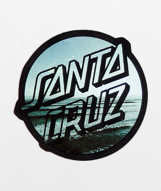 Santa Cruz Homebreak Dot Black & Blue Sticker