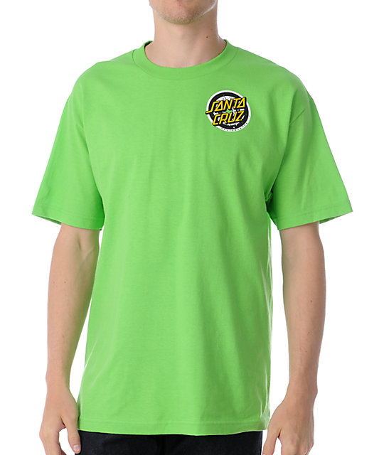 Santa Cruz Homer 1 Lime Green T-Shirt