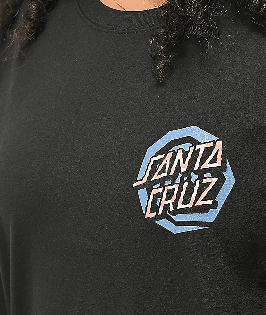 Santa Cruz Illusion Dot Black Long Sleeve T-Shirt