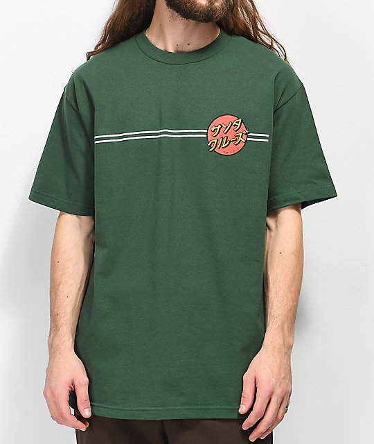 Santa Cruz Japan Dot Forest camiseta verde