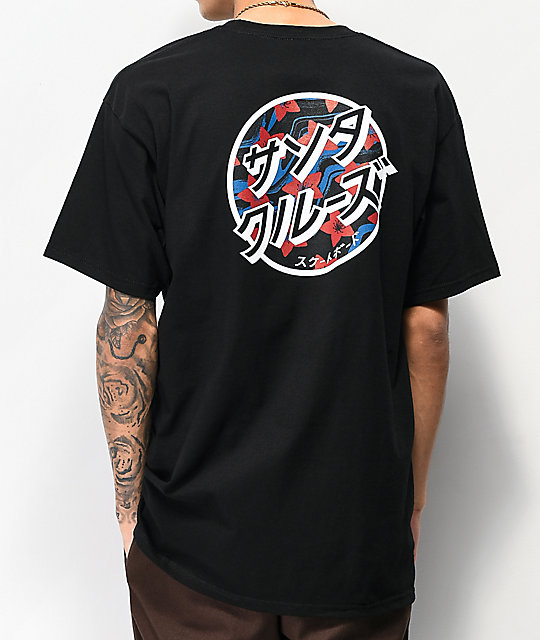 Santa Cruz Japanese Dot Black T-Shirt