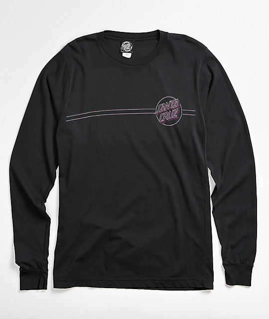Santa Cruz Linear Dot Shadow Grey Long Sleeve T-Shirt
