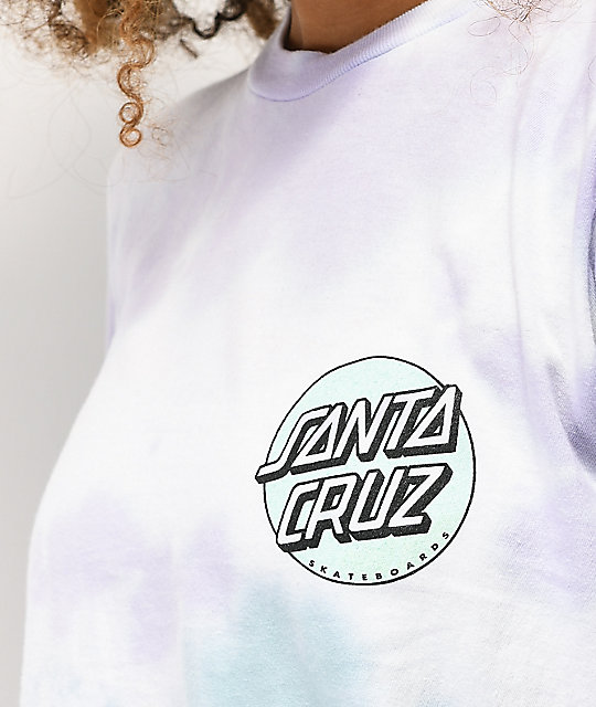 Santa Cruz Missing Dot camiseta tie dye lavanda y menta