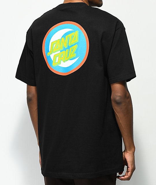 Santa Cruz Moon Dot Badge Black T-Shirt
