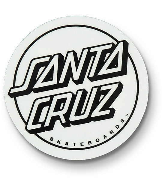 Santa cruz opus dot clear black white sticker