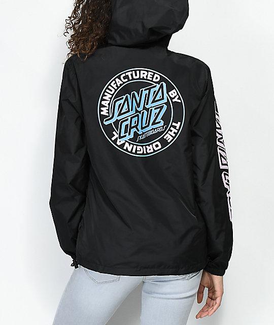 2f6218d3ba Santa Cruz Original Dot Black Anorak Windbreaker Jacket | Zumiez