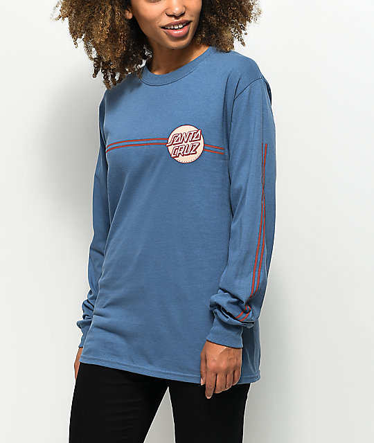 Santa Cruz Other Dot Stripes Slate Long Sleeve T-Shirt