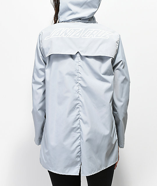 Santa Cruz Oval Dot Storm Cloud Grey Windbreaker Jacket