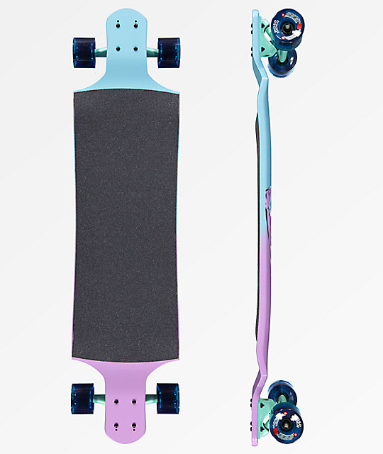 "Santa Cruz Pastel Screaming Hand 40"" Drop Down Longboard Complete"