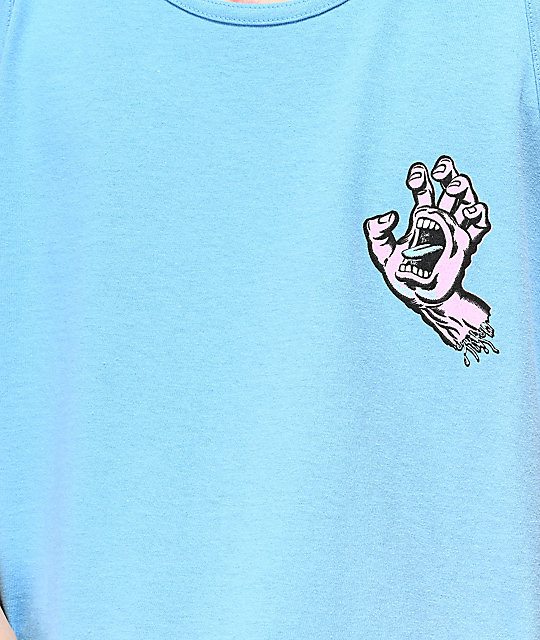 Santa Cruz Pastel Screaming Hand camiseta azul sin mangas