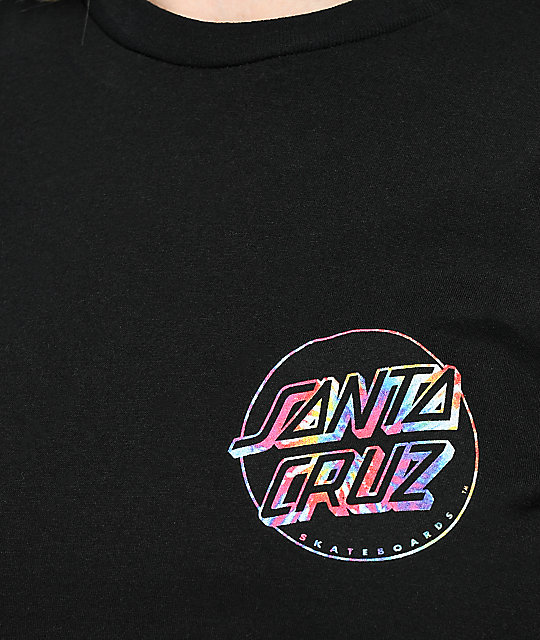 Santa Cruz Reverse Tie Dye Dot Black T-Shirt