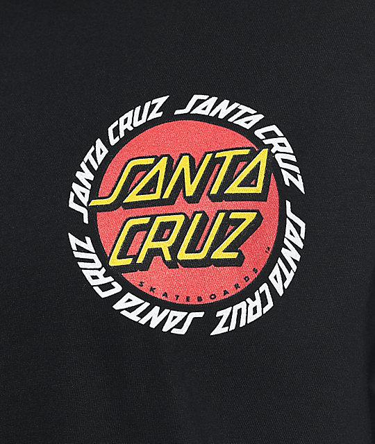 Santa Cruz Ringed Dot camiseta negra