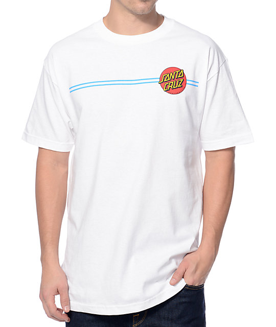 santa cruz screaming dot white t shirt zumiez