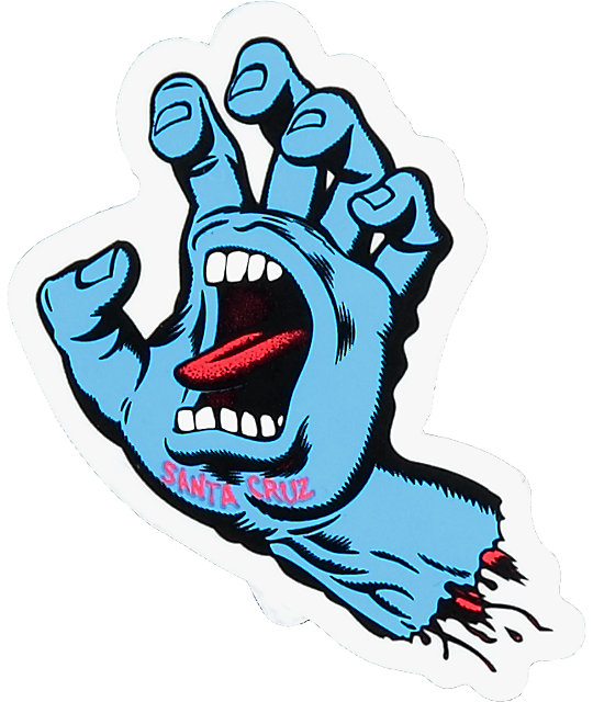 Santa cruz screaming hand 3 sticker