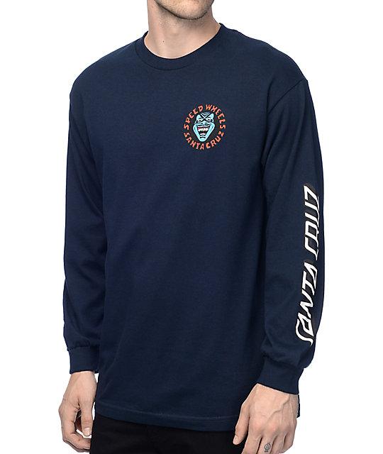 a215fed6064e8a Santa Cruz Screaming Hand Navy Long Sleeve T-Shirt | Zumiez