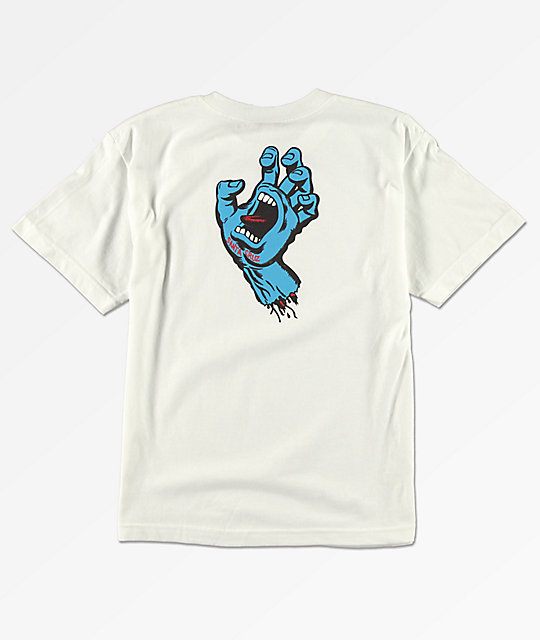 Santa Cruz Screaming Hand camiseta blanca para niños