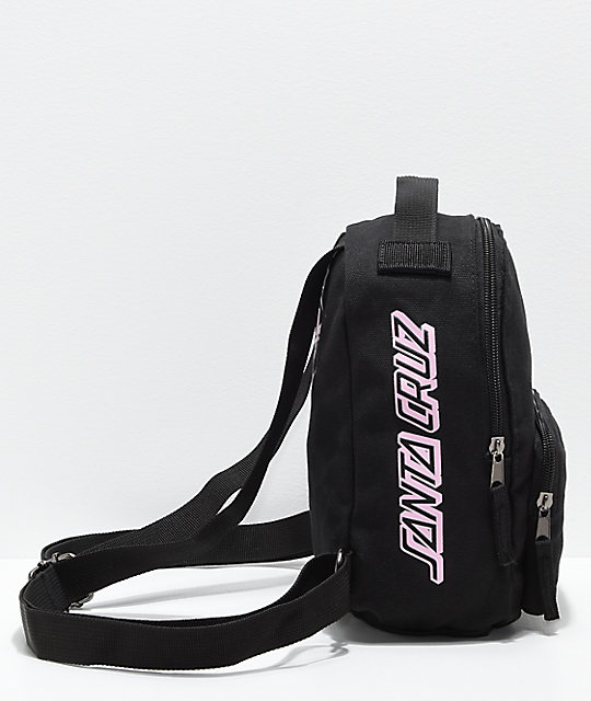 Santa Cruz Screaming Hand mini mochila negra y rosa