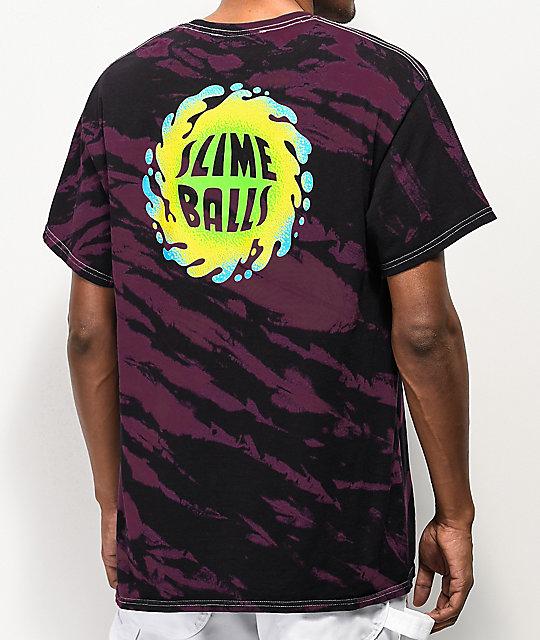 Santa Cruz Slime Balls Dorkus Black &Amp; Pink Tie Dye T Shirt by Santa Cruz Skate