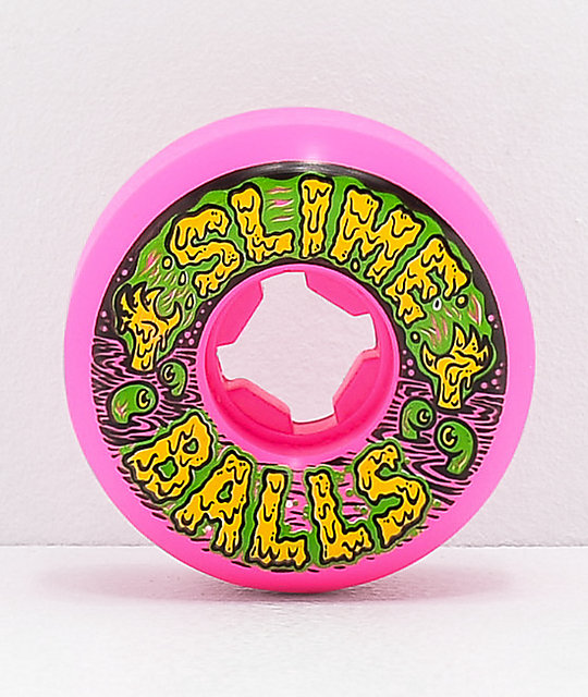 Santa Cruz Slime Balls Swampballs 54mm 97a Vomit Pink Skateboard Wheels
