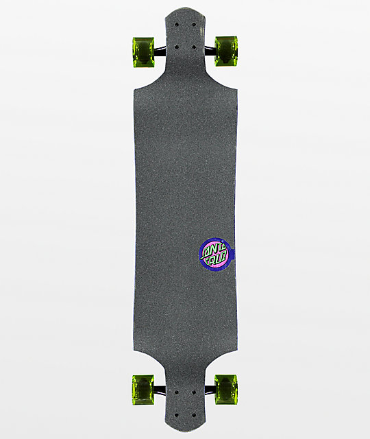 "Santa Cruz Space Wolf 40"" Drop Down longboard completo"
