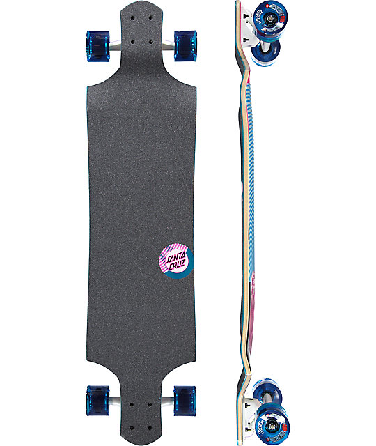 "Santa Cruz Spiral Dot 40"" Drop Down Longboard Complete"