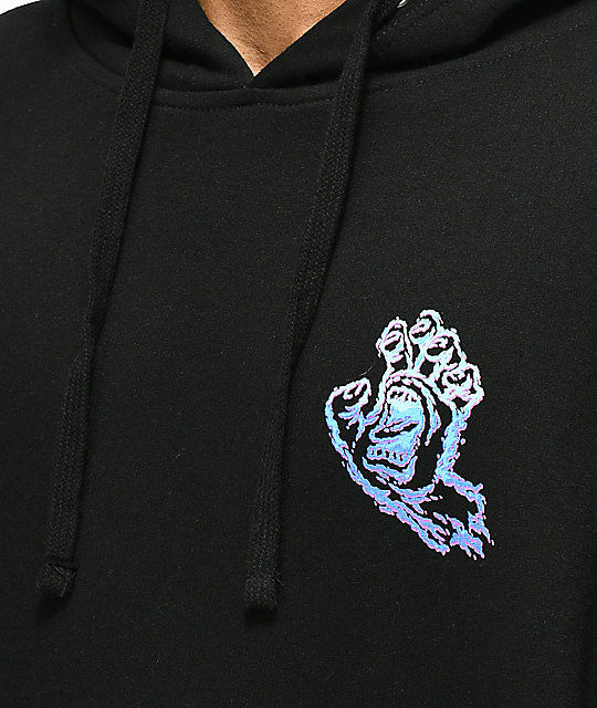 Santa Cruz Throwdown Hand Black Hoodie