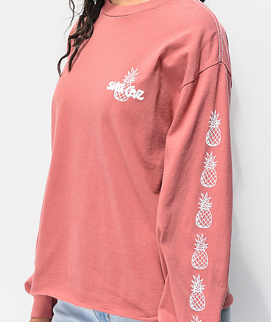 Santa Cruz Tropics Pink Long Sleeve T-Shirt