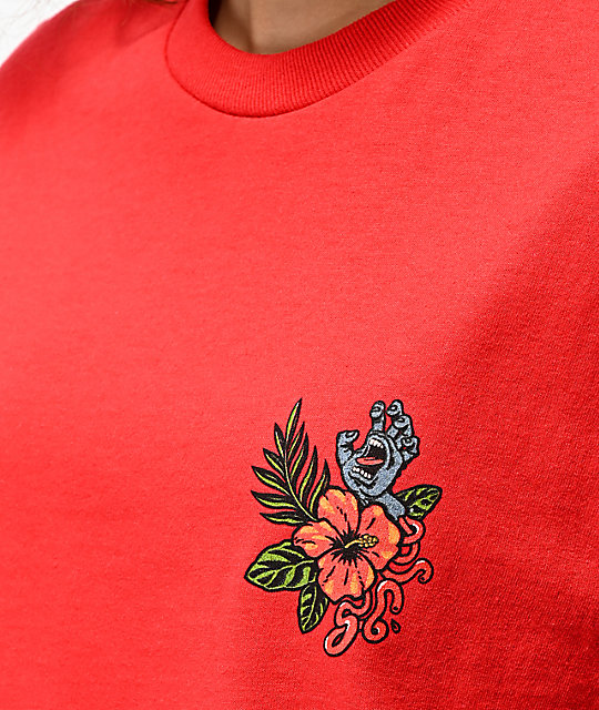 Santa Cruz Vacation Dot camiseta roja