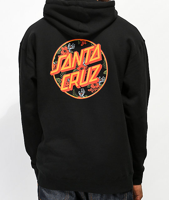 Santa Cruz Vacation Dot sudadera con capucha negra