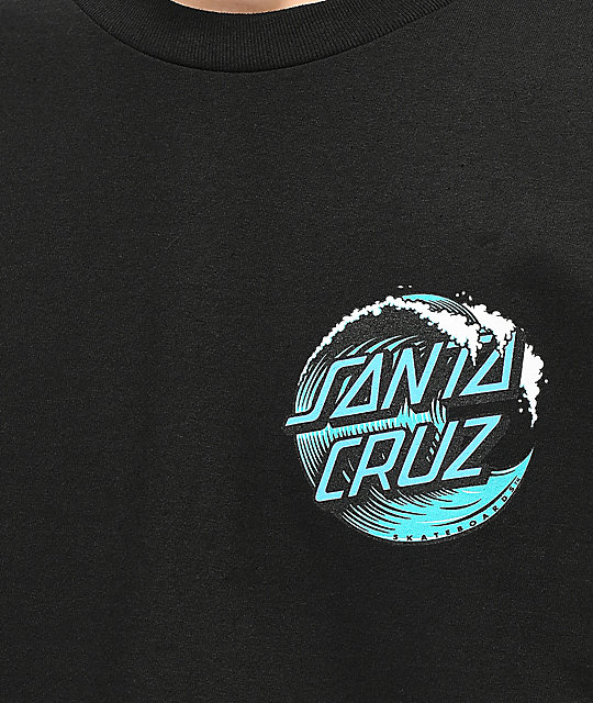 Santa Cruz Wave Dot camiseta negra