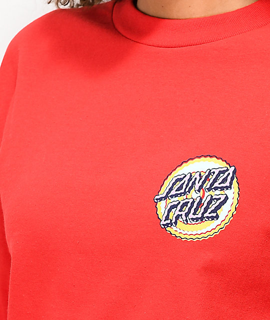 Santa Cruz Wiggle Dot Red Long Sleeve T-Shirt