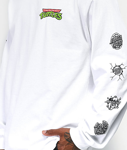Santa Cruz x TMNT Mutagen White Long Sleeve T-Shirt