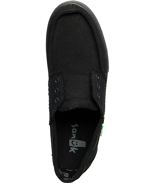 Sanuk Scurvy Carbon Black Shoes