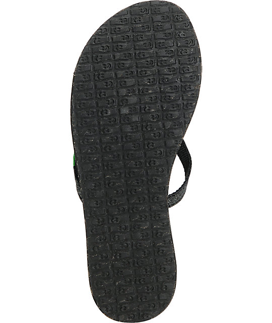 Sanuk Yoga Mat Spree Black & Silver Sandals