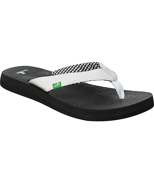 Sanuk Yoga Mat White Sandals