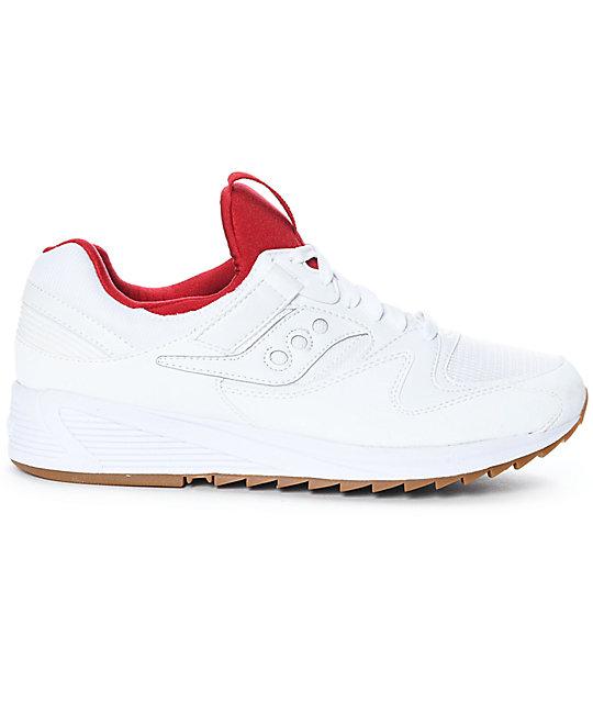 prezzi incredibili grande vendita La migliore vendita del 2019 Saucony GRID 8500 White & Red Shoes | Zumiez.ca