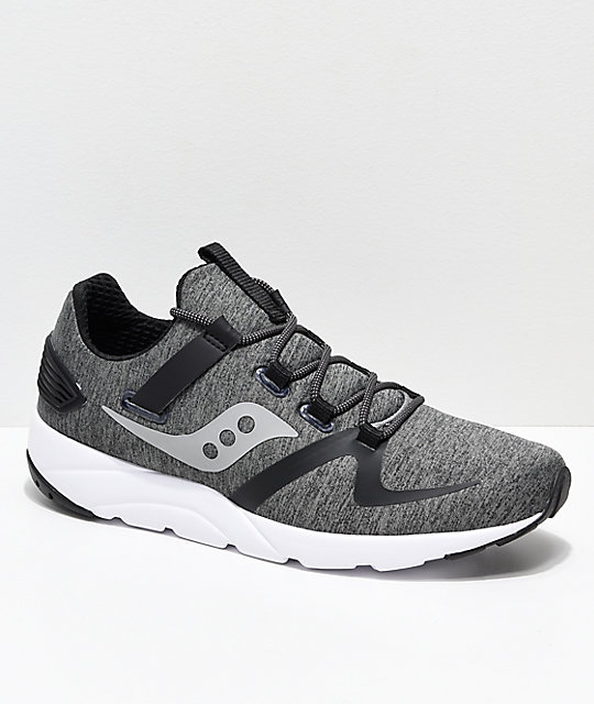 785e253b00 Saucony Grid 9000 Mod Grey & Black Shoes