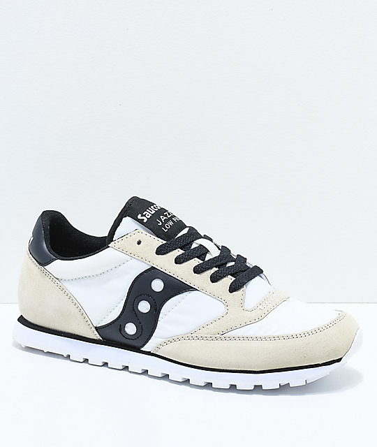 Saucony Jazz Low Pro White   Black Shoes  1eb1fd7d6bec