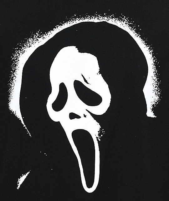 Scream Ghost Face Black T-Shirt