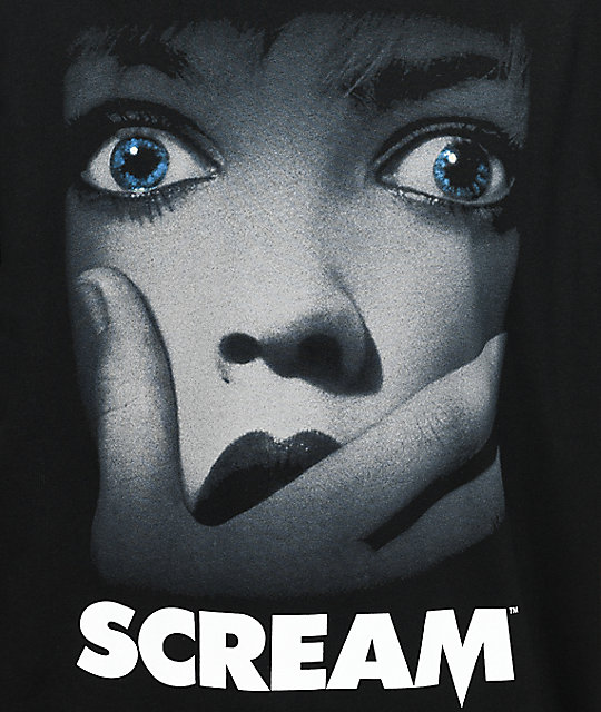 Scream Poster camiseta negra