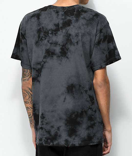 Scum Bus Bench camiseta tie dye negra