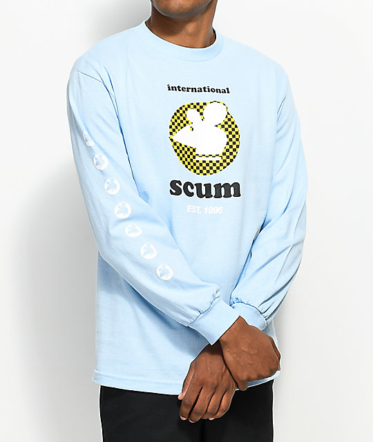 Scum Checker Rat Powder Blue Long Sleeve T-Shirt