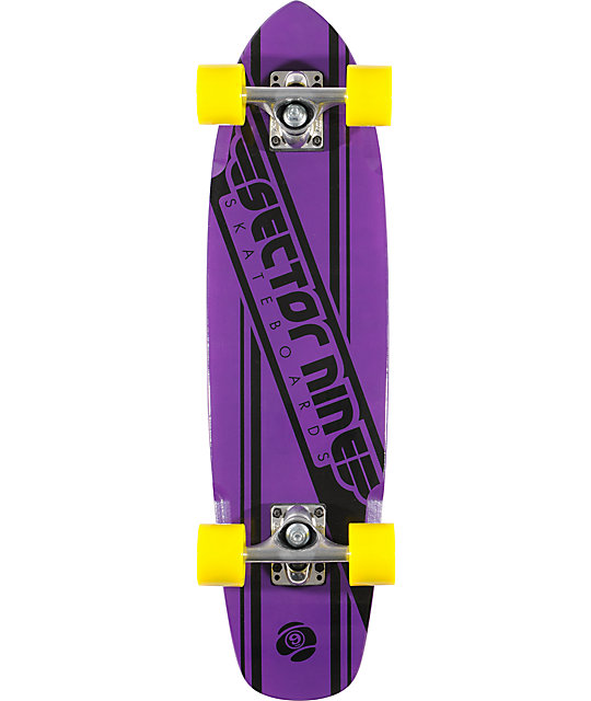 "Sector 9 76 Purple 28""  Cruiser Complete"