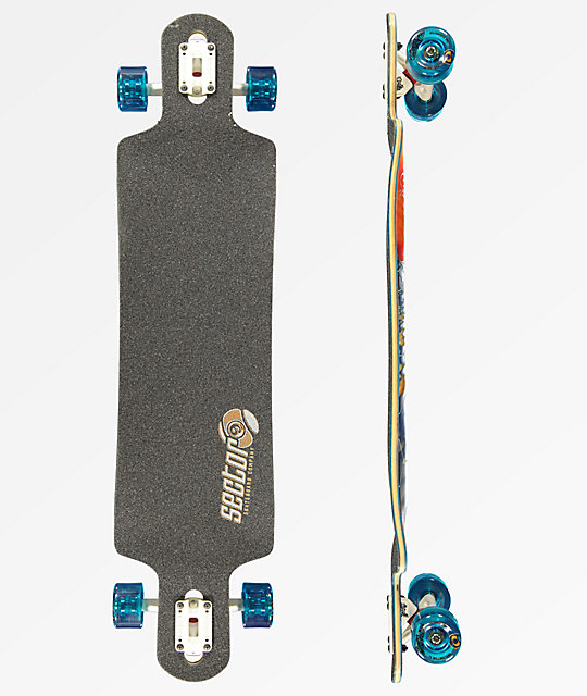 "Sector 9 Paradiso 40"" Drop Through longboard completo"