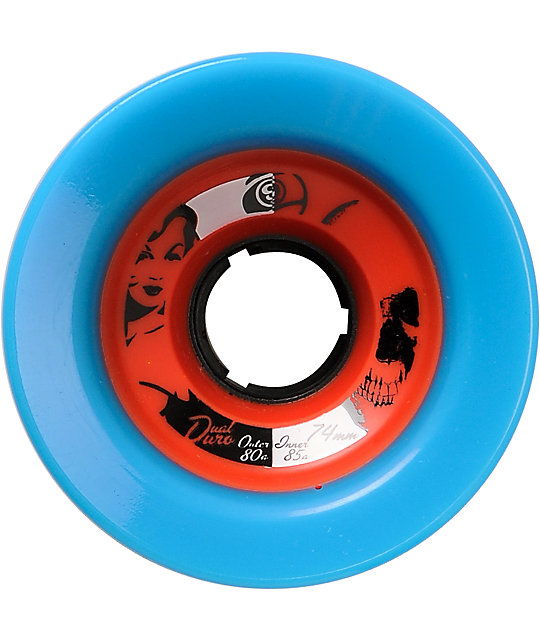 Sector 9 Race Formula Dual Duro 74mm Blue & Red Skateboard Wheels